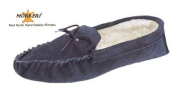 Men's Suede Moccasins with a Soft Sole NAVY